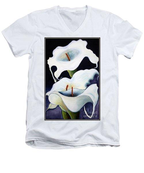 Calla Lilies.. Men's V-Neck T-Shirt
