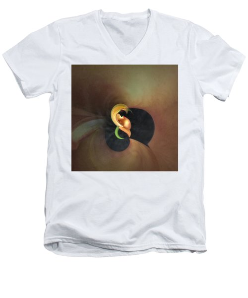 Calla Lily Study 2 Men's V-Neck T-Shirt