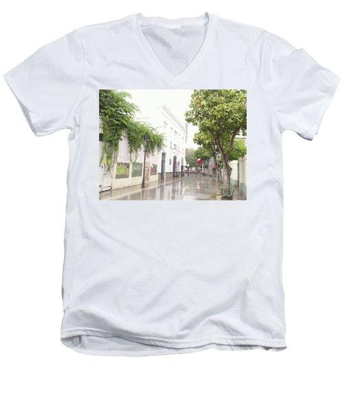 Callejon Amor, Ponce, Puerto Rico Men's V-Neck T-Shirt