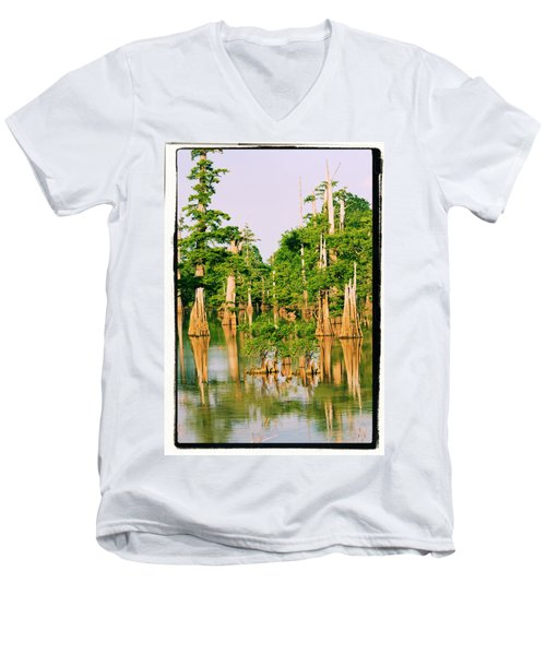 Calm Bayou Men's V-Neck T-Shirt