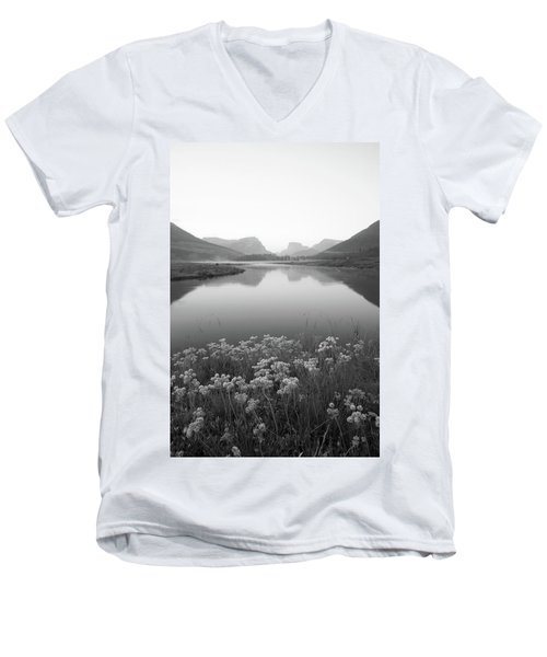 Men's V-Neck T-Shirt featuring the photograph Calm Morning  by Dustin LeFevre