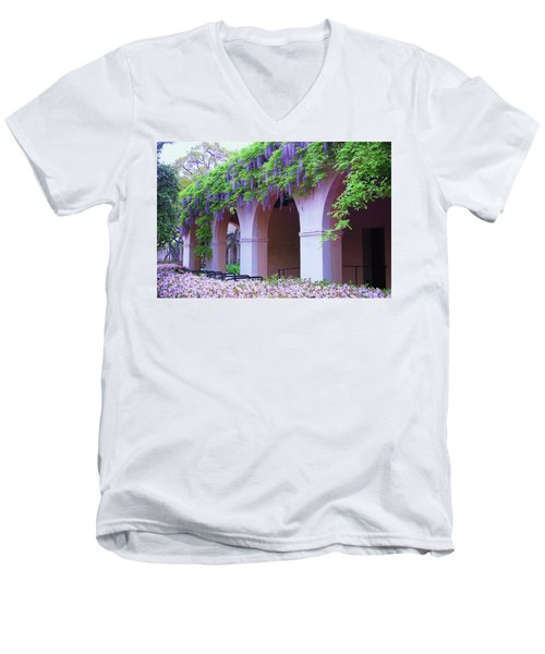 Caltech Wisteria Men's V-Neck T-Shirt