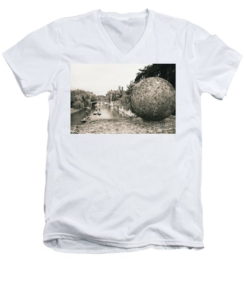 Cambridge Punting  Men's V-Neck T-Shirt by Eden Baed