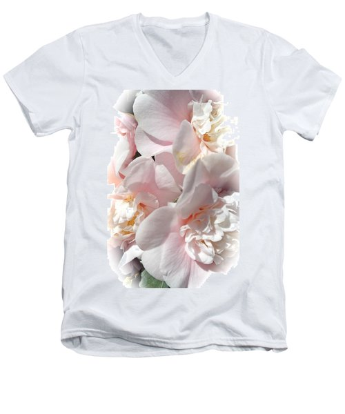 Camellias Softly Men's V-Neck T-Shirt
