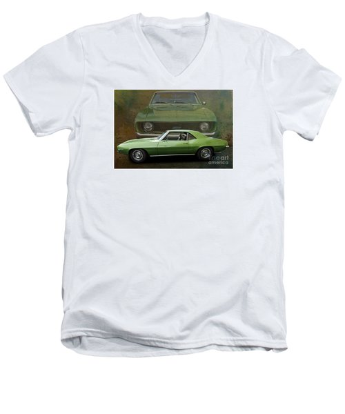 Camero Men's V-Neck T-Shirt by Jim  Hatch
