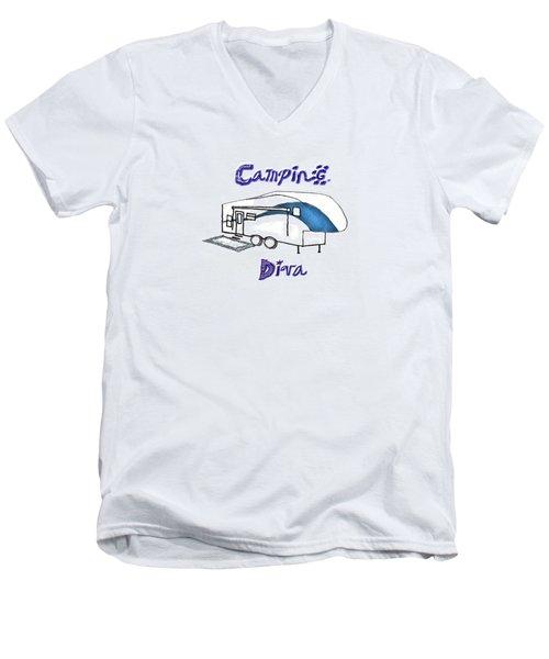 Camping Diva Men's V-Neck T-Shirt