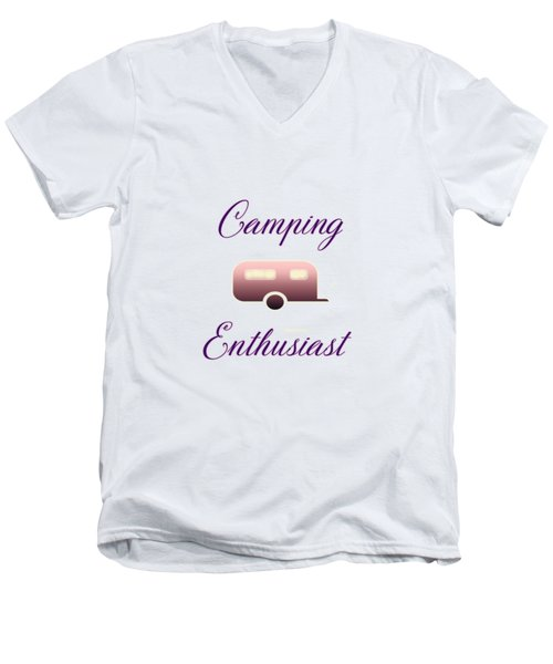 Camping Enthusiast Men's V-Neck T-Shirt