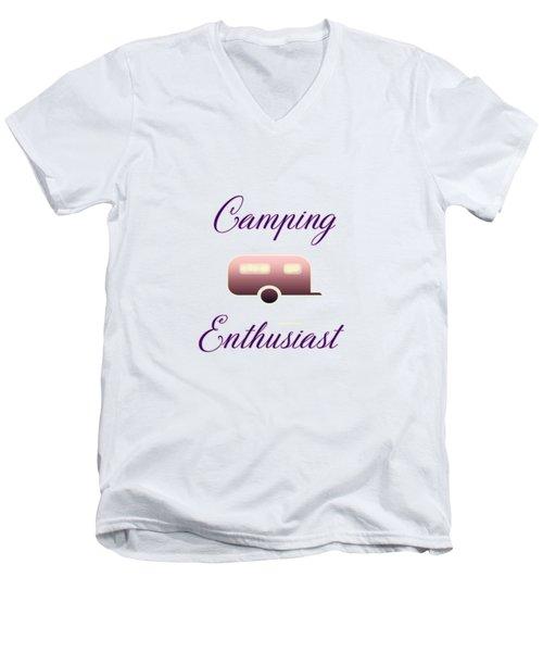Camping Enthusiast Men's V-Neck T-Shirt