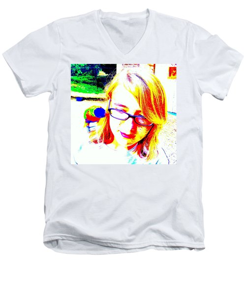 Can You Hear Me Now Men's V-Neck T-Shirt