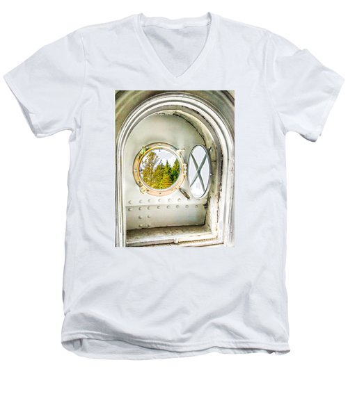 Cana View Men's V-Neck T-Shirt by Jim Rossol