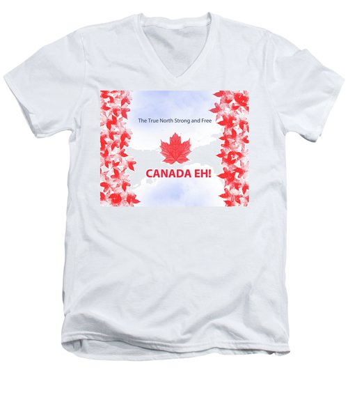 Canada Day 2016 Men's V-Neck T-Shirt by Trilby Cole