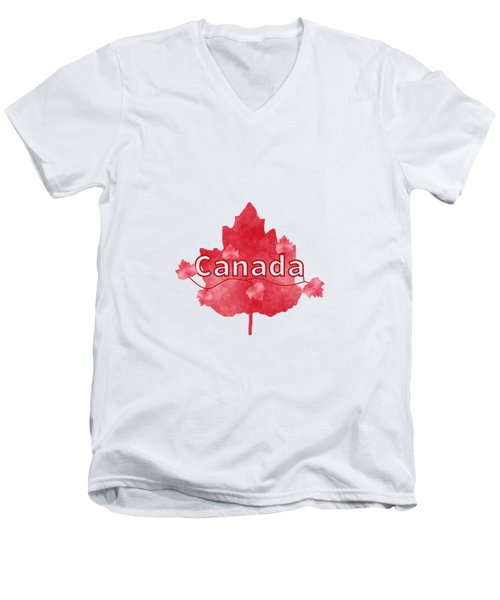 Canada Proud Men's V-Neck T-Shirt