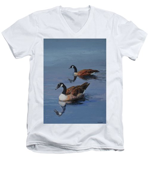 Canadian Geese Men's V-Neck T-Shirt