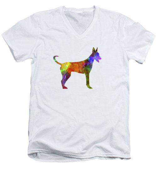 Canarian Warren Hound In Watercolor Men's V-Neck T-Shirt by Pablo Romero