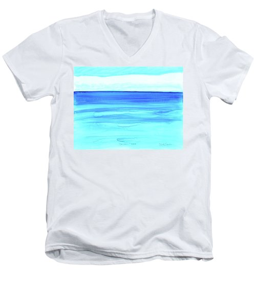 Men's V-Neck T-Shirt featuring the painting Cancun Mexico by Dick Sauer