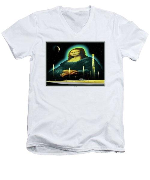 Candles For Mona Men's V-Neck T-Shirt