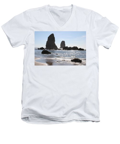Cannon Beach II Men's V-Neck T-Shirt