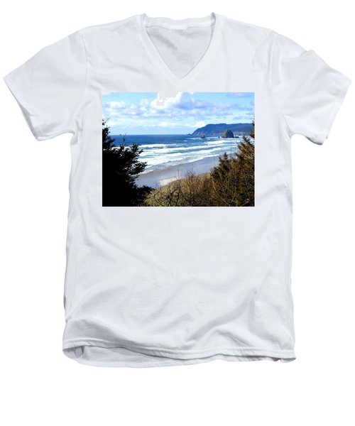 Cannon Beach Vista Men's V-Neck T-Shirt