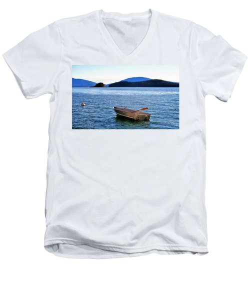 Canoe Men's V-Neck T-Shirt by Martin Cline