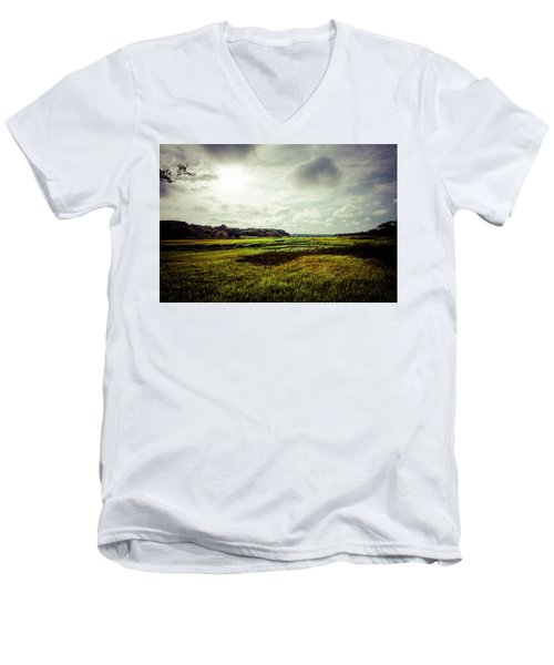 Cape Cod Marsh 1 Men's V-Neck T-Shirt