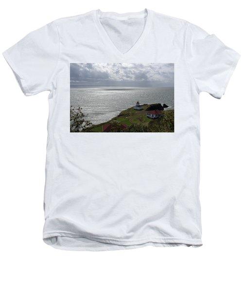 Cape D'or Lighthouse Men's V-Neck T-Shirt