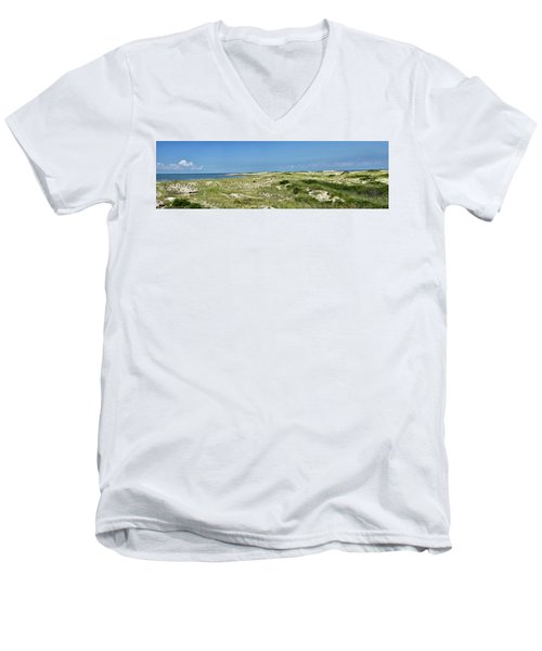 Men's V-Neck T-Shirt featuring the photograph Cape Henlopen State Park - The Point - Delaware by Brendan Reals