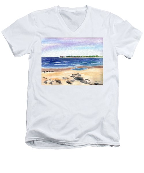 Cape May Beach Men's V-Neck T-Shirt