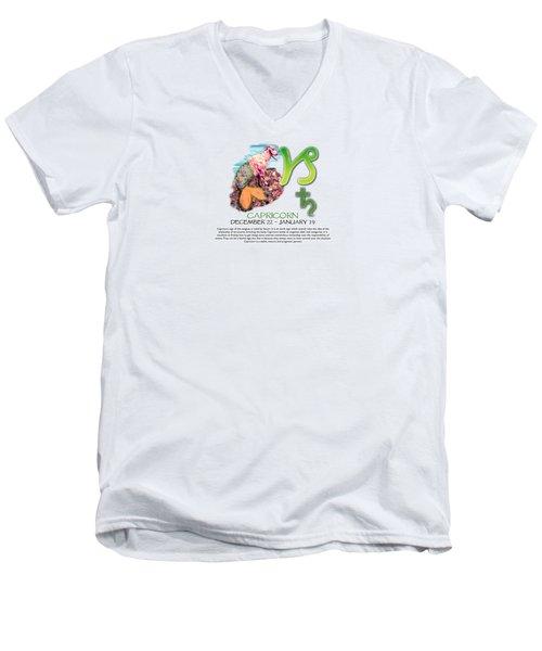 Capricorn Sun Sign Men's V-Neck T-Shirt