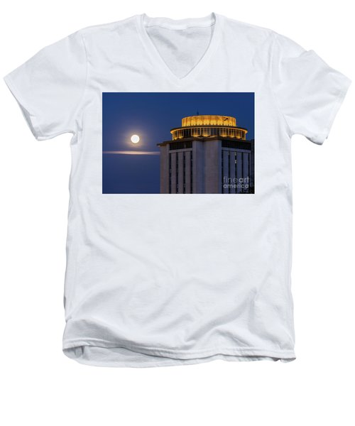 Capstone House And Full Moon Men's V-Neck T-Shirt