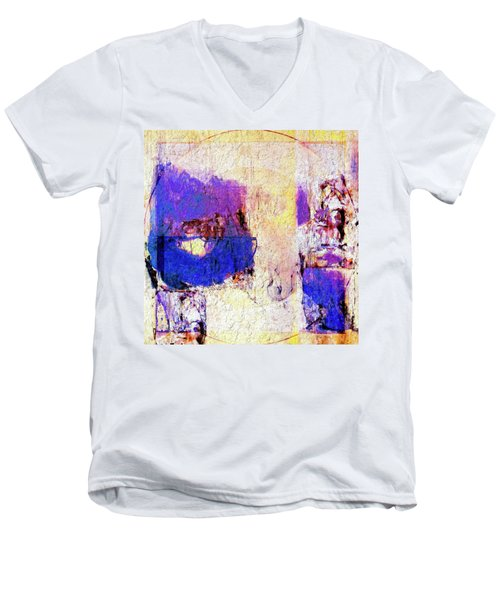 Men's V-Neck T-Shirt featuring the painting Captiva by Dominic Piperata