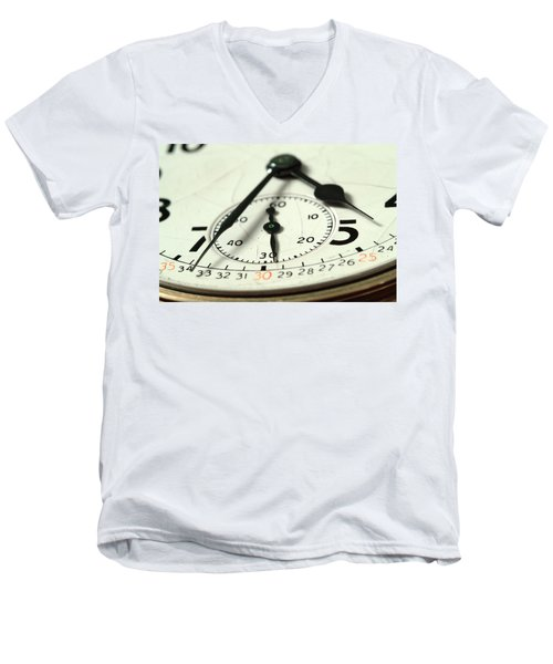 Captured Time Men's V-Neck T-Shirt by Michael McGowan