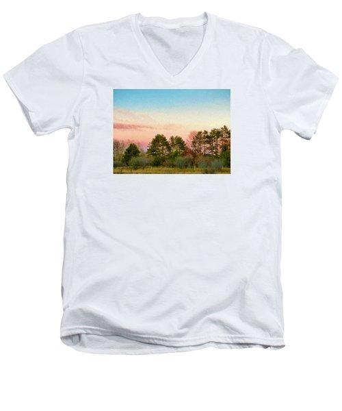 Men's V-Neck T-Shirt featuring the photograph Car Scenery by Susan Crossman Buscho