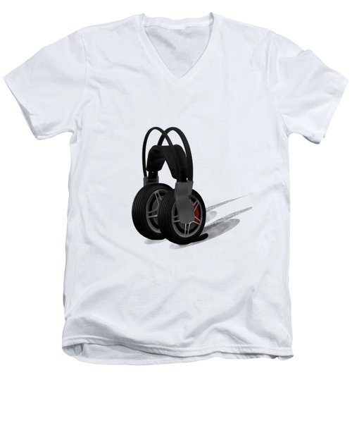 Car Stereo Men's V-Neck T-Shirt