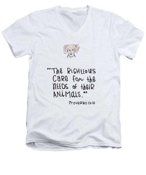 Care For Animals Men's V-Neck T-Shirt