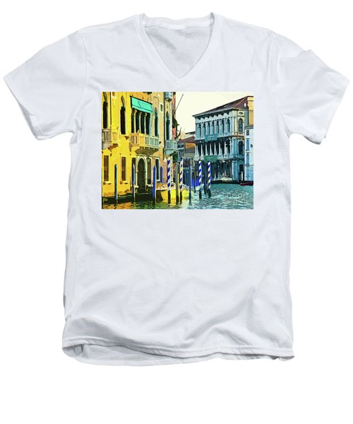 Men's V-Neck T-Shirt featuring the photograph Ca'rezzonico Museum by Tom Cameron