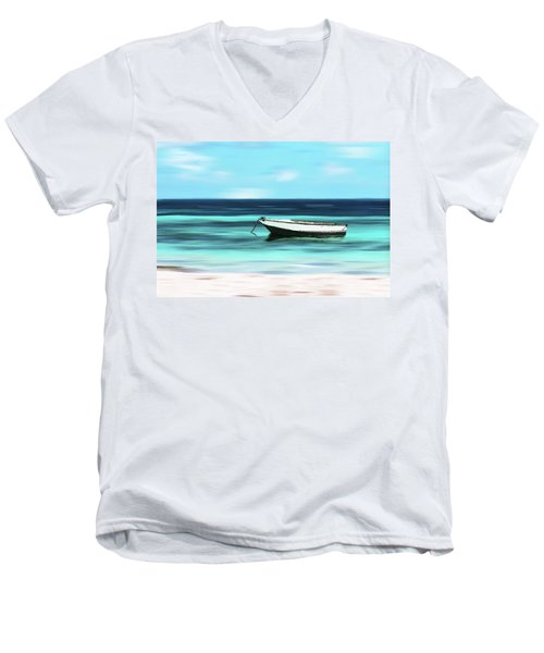 Caribbean Dream Boat Men's V-Neck T-Shirt