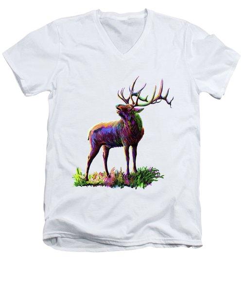 Colorful Caribou Men's V-Neck T-Shirt
