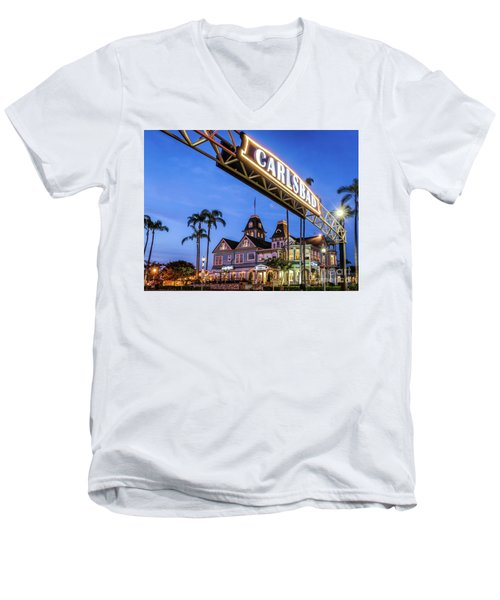 Carlsbad Welcome Sign Men's V-Neck T-Shirt