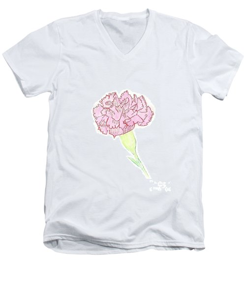 Carnation Men's V-Neck T-Shirt
