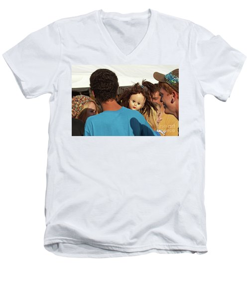 Men's V-Neck T-Shirt featuring the photograph Carnival Adoption by Joe Jake Pratt