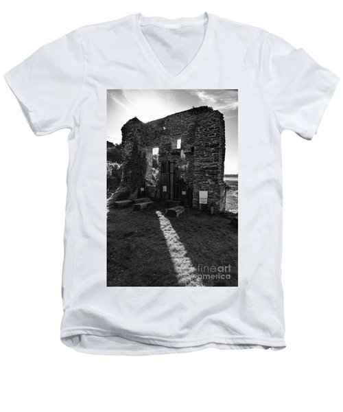Men's V-Neck T-Shirt featuring the photograph Photographs Of Cornwall Carnon Mine by Brian Roscorla