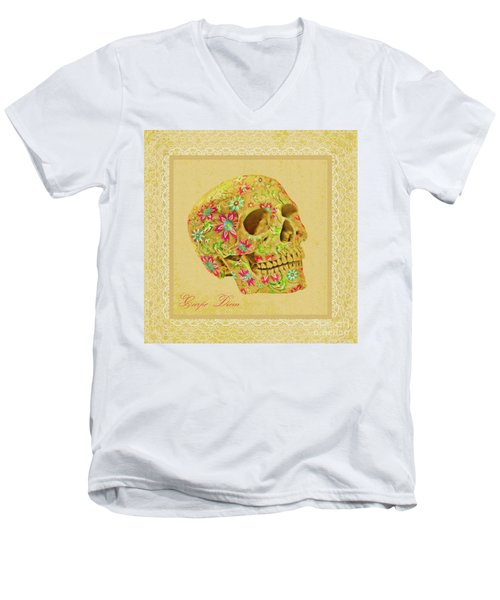 Carpe Diem Men's V-Neck T-Shirt by Olga Hamilton