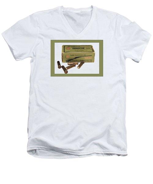 Cartridges For Rifle Men's V-Neck T-Shirt by Susan Leggett