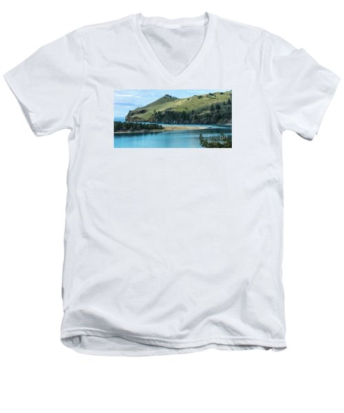 Cascade Head Panorama Men's V-Neck T-Shirt