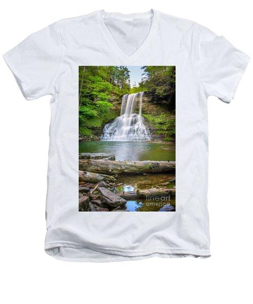 Cascades Falls Giles County Men's V-Neck T-Shirt