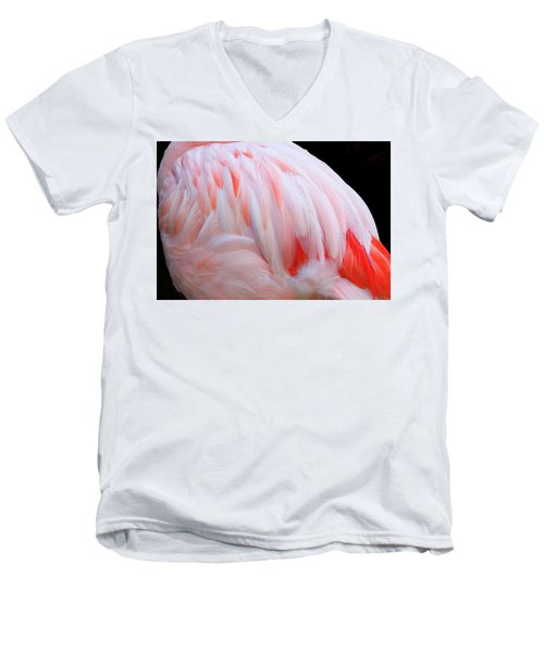 Men's V-Neck T-Shirt featuring the photograph Cascading Feathers by Elvira Butler