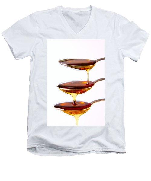 Men's V-Neck T-Shirt featuring the photograph Cascading by Gert Lavsen