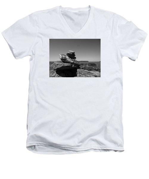 Casco Bay Cairn Bw Men's V-Neck T-Shirt
