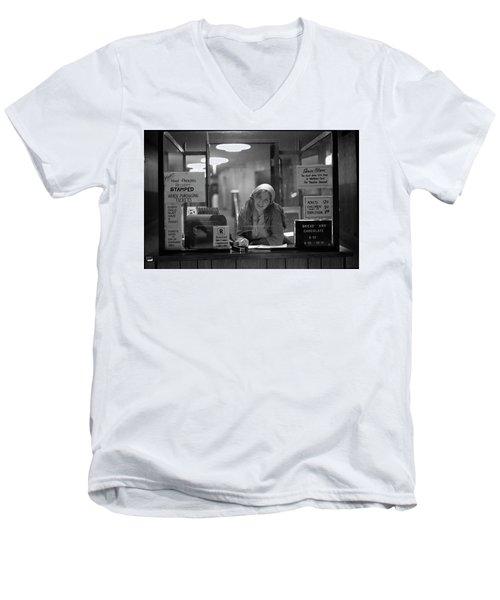 Cashier, Devon Theatre, 1979 Men's V-Neck T-Shirt