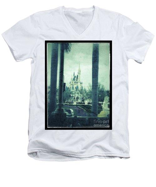 Castle Between The Palms Men's V-Neck T-Shirt by Jason Nicholas